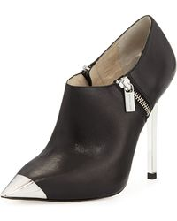 Michael by Michael Kors Zady Leather Bootie - Lyst