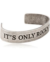 John Richmond | It'S Only Rock N' Roll Cuff Bracelet | Lyst