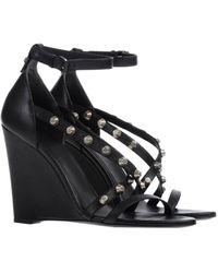 Balenciaga Black Sandals - Lyst