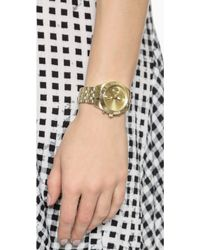 Marc By Marc Jacobs Peeker Chrono Watch - Gold - Lyst