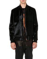 Blood Brother Leather Pony Hair Varsity Jacket Black - Lyst