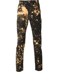 Raf Simons Painting Drips Printed Jeans - Lyst