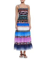 Jean Paul Gaultier Mixed-Print Pleated Maxi Coverup - Lyst