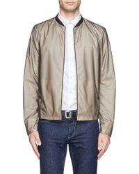 Armani Packable Rubber Blouson Jacket - Lyst