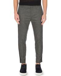Haider Ackermann Stripedseam Flannel Trousers Grey - Lyst