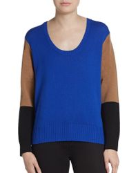 Mason by Michelle Mason Colorblock Wool Cashmere Pullover - Lyst
