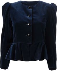 Yves Saint Laurent Vintage Peplum Jacket - Lyst