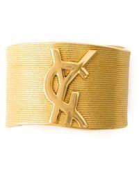 Yves Saint Laurent Vintage Logo Cuff - Lyst