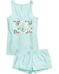 H&M Jersey Pyjamas blue - Lyst