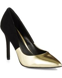Charles By Charles David Paisley Suede Pumps - Lyst