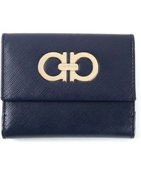 Ferragamo Small Gancini Flap Wallet - Lyst