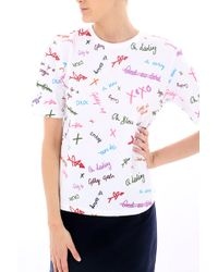 House Of Holland Tshirt Bianco - Lyst