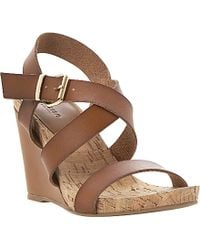 Dune Grainne Cork Wedge Sandals - For Women - Lyst