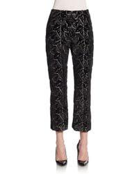 Alexander McQueen Ivy Jacquard Velvet Pants - Lyst