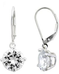 Lord & Taylor - Round Cubic Zirconia Drop Earrings - Lyst