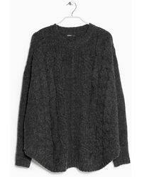 Mango Cable-knit Wool-blend Sweater - Lyst