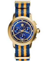 Tory Burch Tory Chronograph Fabric-Strap Watch - Lyst