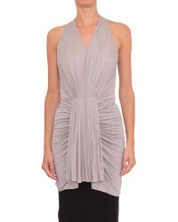Rick Owens Viscose Jersey Tank Top With Pleated Flounce - Lyst