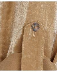 Sarah Pacini - Bronze Wraparound Long Sleeved Shirt - Lyst