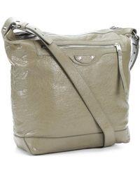 Balenciaga Pistachio Textured Leather Day Shoulder Bag - Lyst