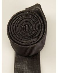 Saint Laurent Tweed Style Tie - Lyst