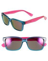 Converse - 55mm Retro Sunglasses - Teal - Lyst