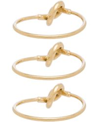 Cast Of Vices - Set Of 3 Stackable Rings - Lyst