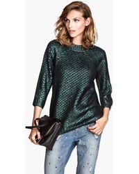 H&M Pattern Knit Jumper - Lyst
