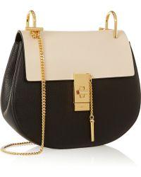 Chloé Drew Medium Textured-leather Shoulder Bag - Lyst
