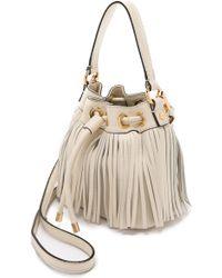 MILLY - Essex Small Fringe Bucket Bag - Bone - Lyst
