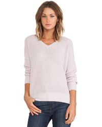 Vince Thermal Double V Sweater - Lyst