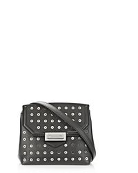 Alexander Wang Marion Sling In Soft Black With Eyelets And Rhodium - Lyst