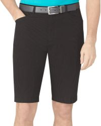 Calvin Klein Stripe Chambray Shorts - Lyst
