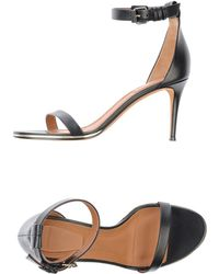 Givenchy Black Sandals - Lyst