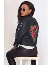 Nasty Gal Always Forever Vegan Leather Moto Jacket black - Lyst