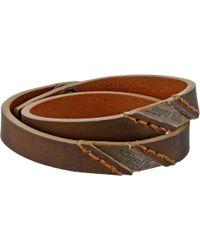 Diesel Brown Ageft Bracelet - Lyst