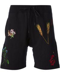 Bernhard Willhelm - Embroidered Track Shorts - Lyst