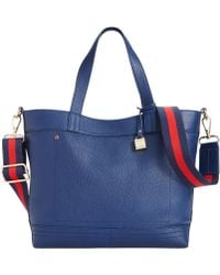 Tommy Hilfiger Th Signature Leather Convertible Tote - Lyst