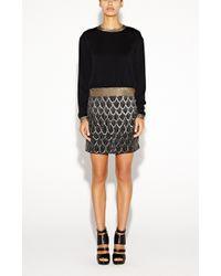 Nicole Miller Courtney Crepe Sweatshirt - Lyst