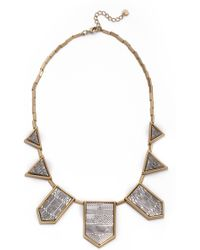 House of Harlow 1960 - Engraved Classic Station Necklace - Lyst