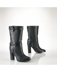 Polo Ralph Lauren Studded Leather Patrice Boot - Lyst