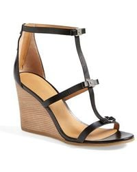 Marc By Marc Jacobs Cube Bow Leather Wedge Sandal - Lyst