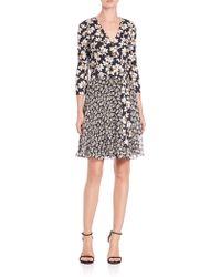 Diane von Furstenberg | Irina Printed Silk Wrap Dress | Lyst