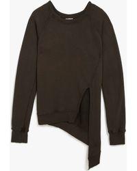 Oak Split Front Pullover brown - Lyst
