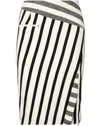 Altuzarra Arcadia Striped Cotton-Blend Canvas Pencil Skirt - Lyst