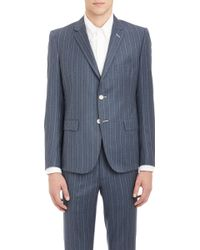 Band Of Outsiders Stripe Twobutton Sportcoat - Lyst