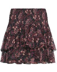 Twelfth Street Cynthia Vincent - Exclusive Printed Ruffle Mini Skirt - Lyst