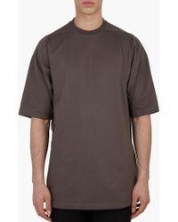 Rick Owens | Grey Heavy-cotton T-shirt | Lyst