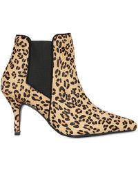 Kg Kurt Geiger 100mm Scamp Leopard Ponyskin Ankle Boots - Lyst