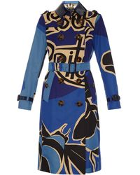 Burberry Prorsum Book Cover Cotton Trench Coat blue - Lyst